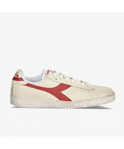 Diadora Game L Low Waxed White/Red Pepper