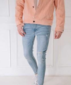 Pantalon vaquero Super Skinny FLV rotos Light blue