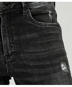 Pantalon vaquero Super Skinny FLV rotos Negro